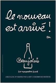 2008 Beaujolais Nouveau poster--Click here to read about the Beaujolais region of France and the poster artist!