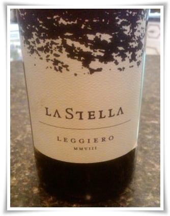 La Stella Leggiero, an unoaked Chardonnay