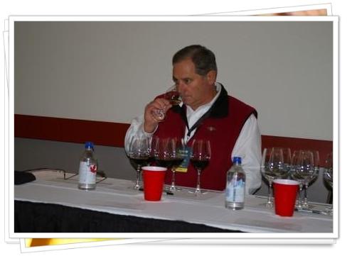 Rodney Strong's Rick Sayre tasting wines