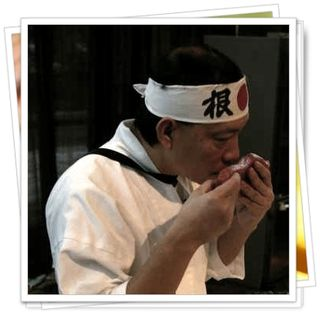 Sushi chef tells us to smell the fish