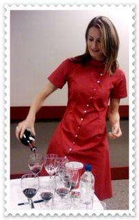 Michaela Morris pours Pinot Noir