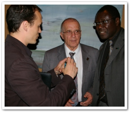 Braden Douglas of Relevention, Mayor George Peary (Abbotsford), and Mayor James Atebe (Mission)