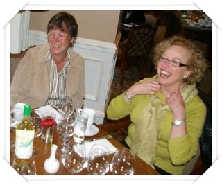 Kathy and Lee Ann from Hester Creek Estate Winery obviously love their work!