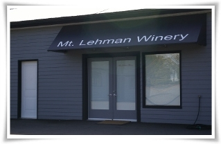 Current front of the tasting room at Mt. Lehman Winery