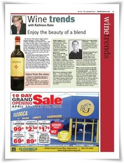 My City Wine Column April 2010
