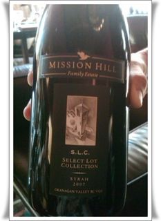 Mission Hill SLC Syrah 2007