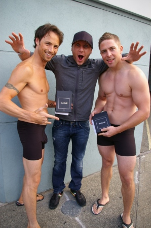 Kid Carson of The Beat with models Steve and Justin.