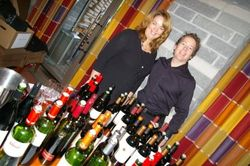 PR pro Dana Lee Harris & Four Seasons Whistler wine director David Foran