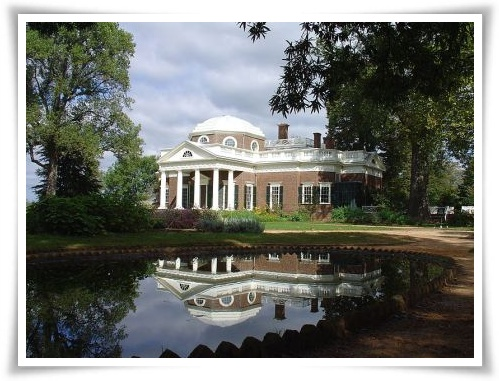 Thomas Jefferson's home - Monticello - in Charlottesville, Virginia
