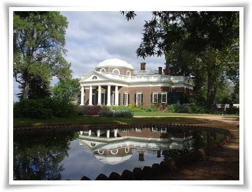 Thomas Jefferson's home - Monticello - in Charlottesville, Virginia
