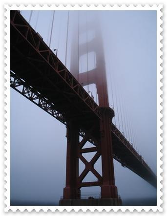 San Francisco - Golden Gate Bridge in the fog