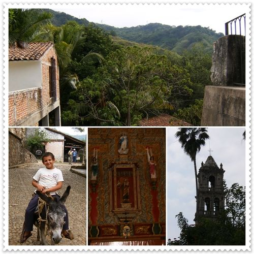 Lush Sierra Madre foothills and the historic village of Copala