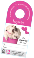 Haywire neck tag