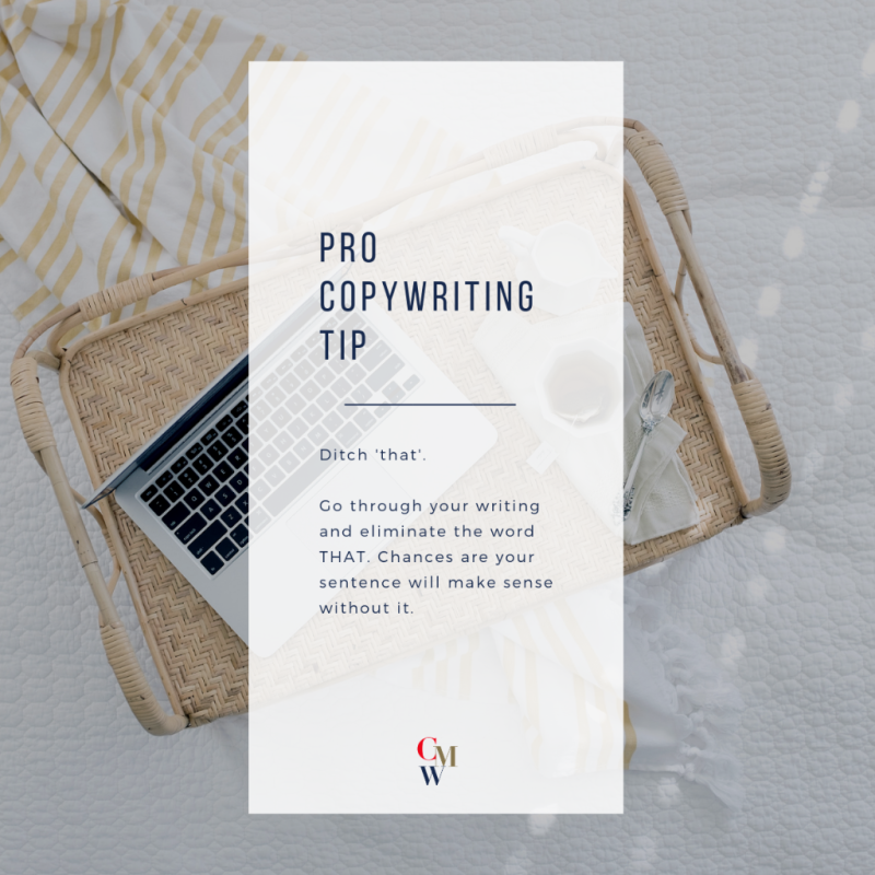 Professional Copywriting Tip